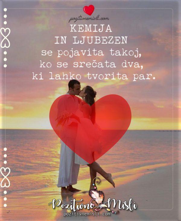 Ljubezen - Kemija  in ljubezen  se pojavita takoj
