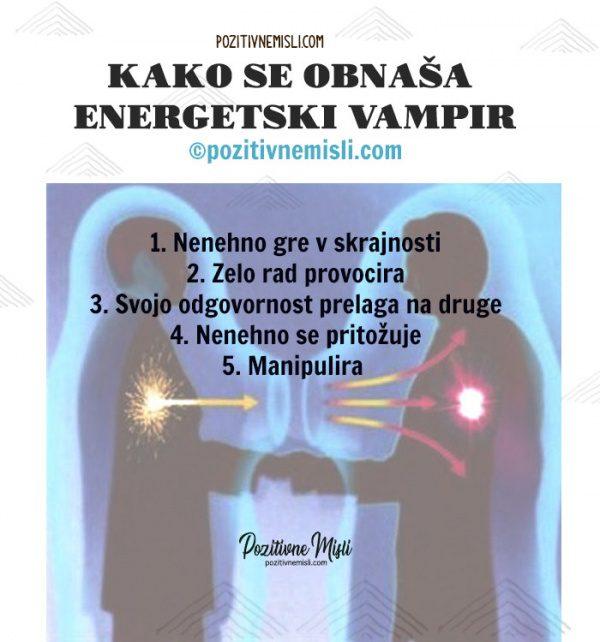 Kako se obnaša  energetski vampir