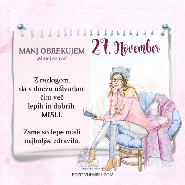 27. November ~ Pozitivčica za današnji dan - Nastja Klevže