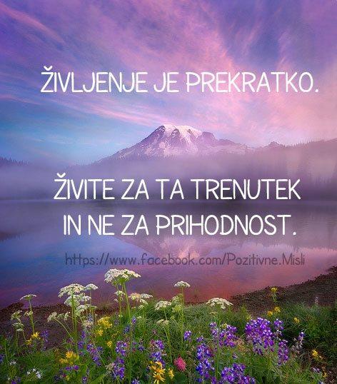 Življenje je prekratko - Misli o življenju