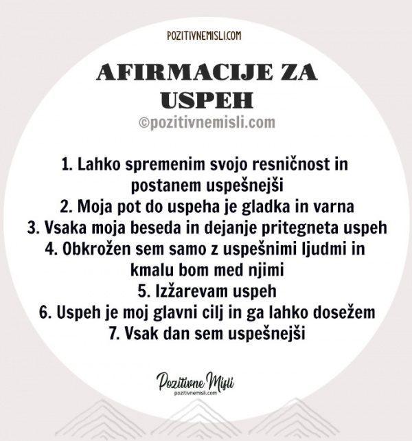 7 afirmacij za uspeh