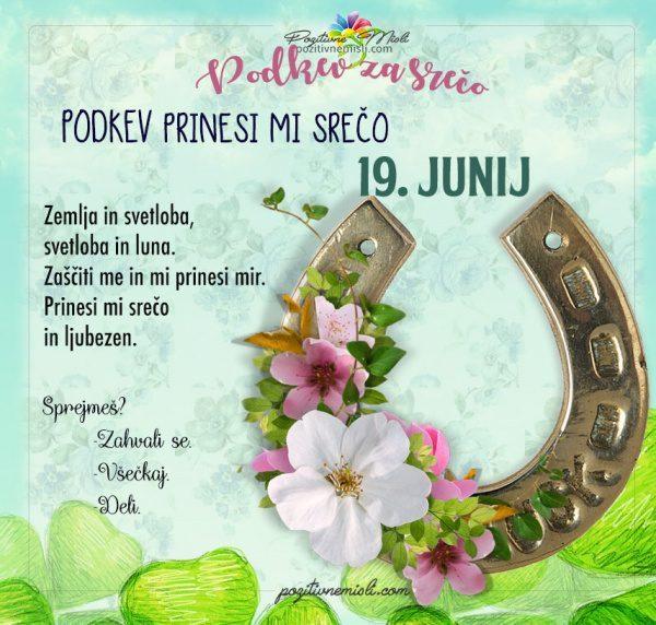 19. junij - 365 srečnih dni - PODKEV za srečo