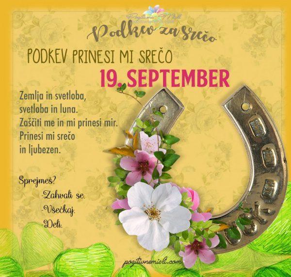 19. september - 365 srečnih dni - PODKEV za srečo