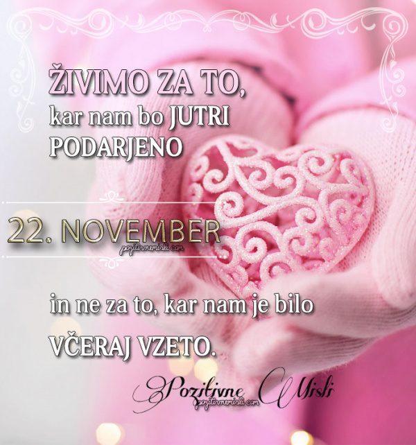 22. november - 365 misli koledar lepih misli o življenju