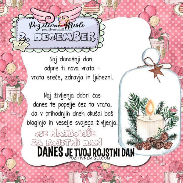 2. december ~ voščilo za rojstni dan ~ Pozitivčica