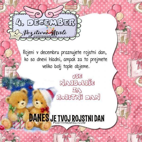 4. december ~ voščilo za rojstni dan ~ Pozitivčica