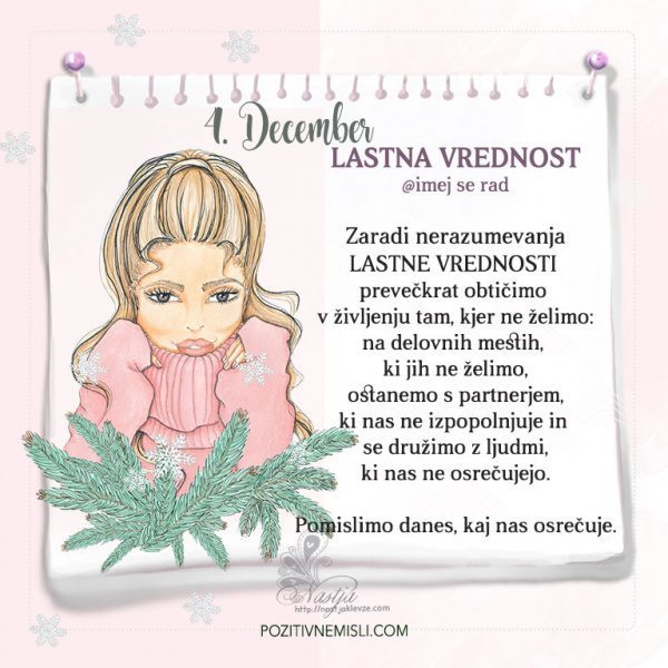 4. December ~ Pozitivčica za današnji dan ~ Nastja Klevže