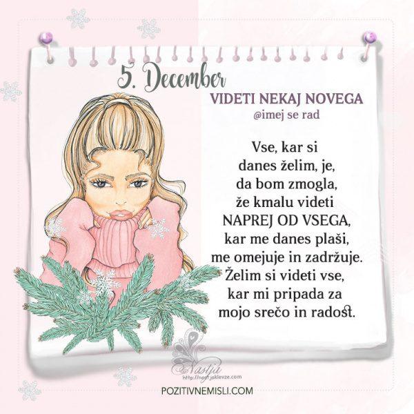 5. December ~ Pozitivčica za današnji dan ~ Nastja Klevže