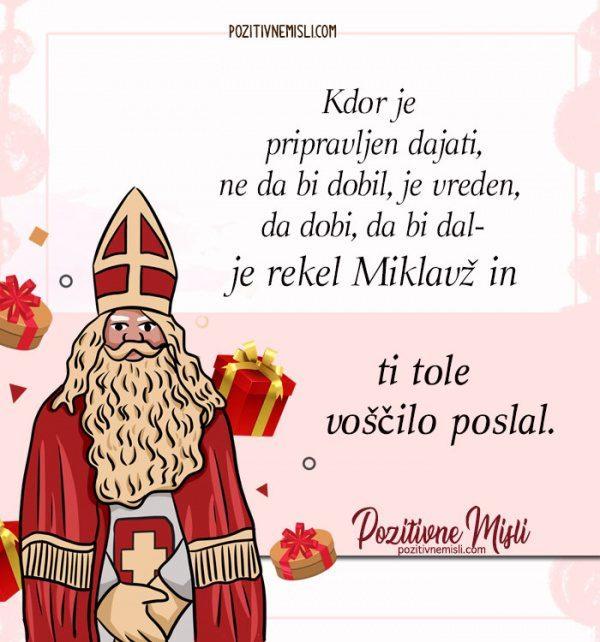 Miklavž - Kdor je pripravljen dajati, ne da bi dobil