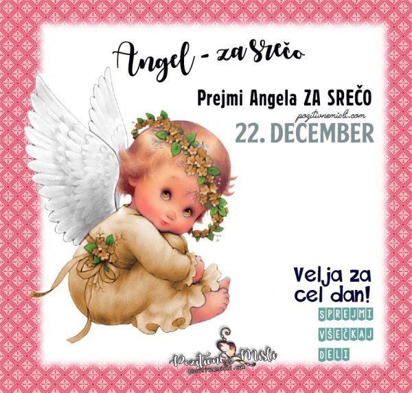 22. december - 365 srečnih dni - angel za srečo