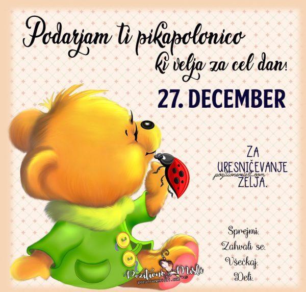 27. december - pikapolonica za današnji dan