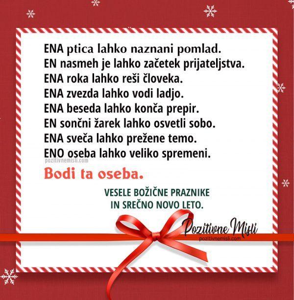 Vesele božične praznike in srečno novo leto - voščilo