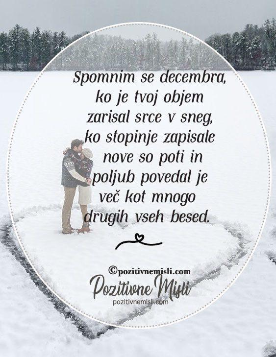 Ljubezenski verzi - Spomnim se decembra