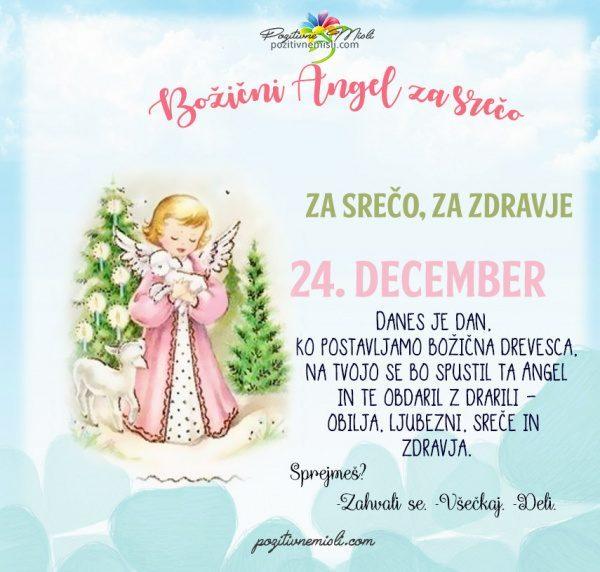 24. december - 365 srečnih dni božični angel