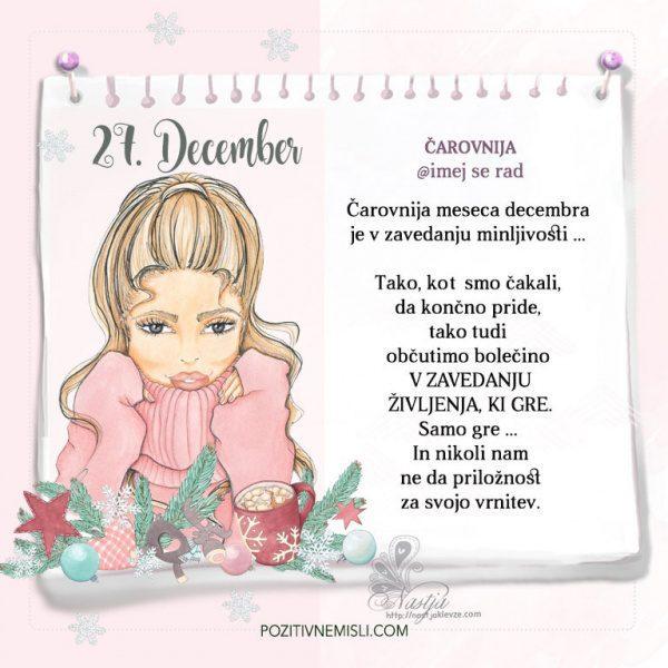 27. December ~ Pozitivčica za današnji dan ~ Nastja Klevže