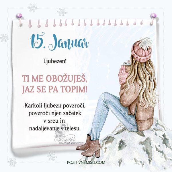 15. januar ~ Pozitivčica za današnji dan ~ Nastja Klevže