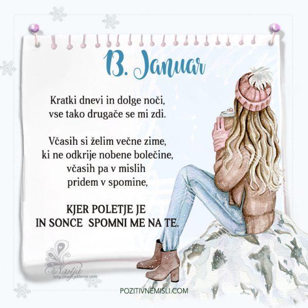 13. januar ~ Pozitivčica za današnji dan ~ Nastja Klevže