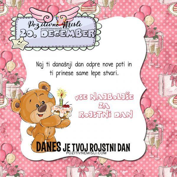 20. december ~ voščilo za rojstni dan ~ Pozitivčica