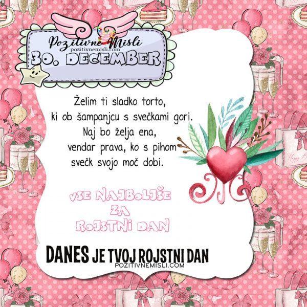 30. december ~ voščilo za rojstni dan ~ Pozitivčica