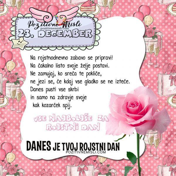 23. december ~ voščilo za rojstni dan ~ Pozitivčica