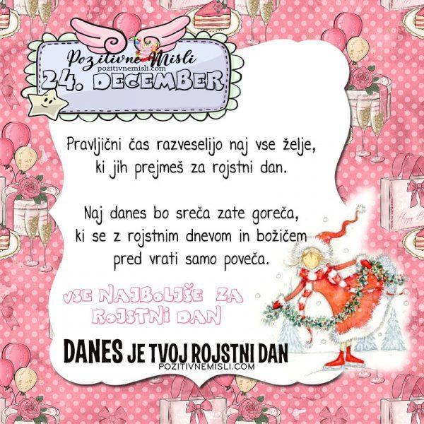 24. december ~ voščilo za rojstni dan ~ Pozitivčica