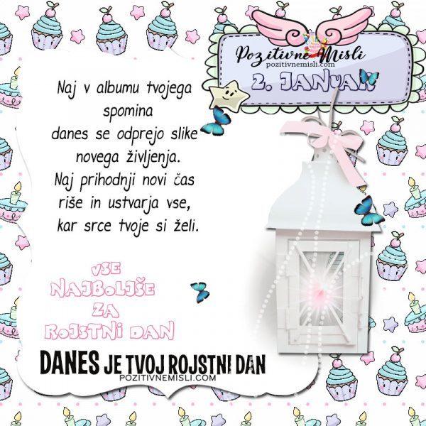 2. januar ~ voščilo za rojstni dan ~ Pozitivčica