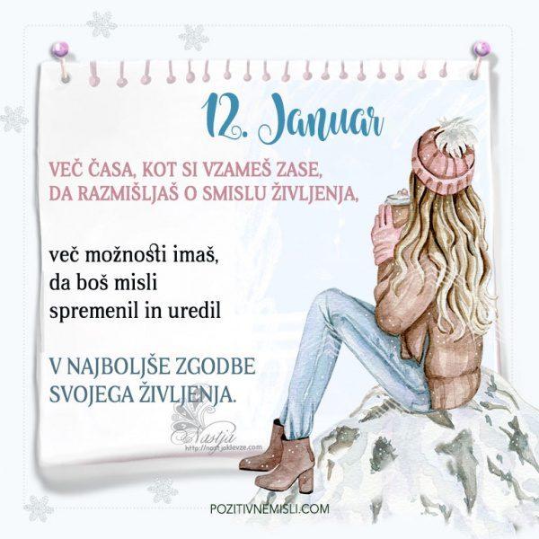 12. januar ~ Pozitivčica za današnji dan