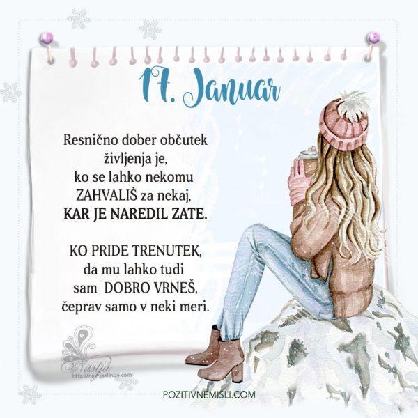 17. januar ~ Pozitivčica za današnji dan ~ Nastja Klevže