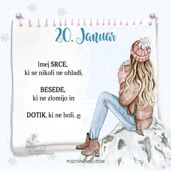20. januar ~ Pozitivčica za današnji dan ~ Nastja Klevže