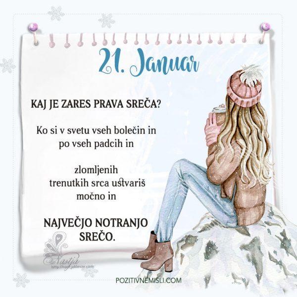 21. januar ~ Pozitivčica za današnji dan ~ Nastja Klevže