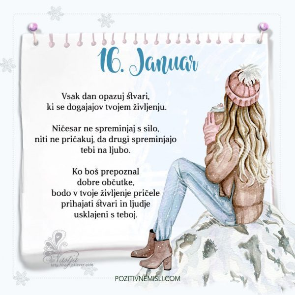 16. januar ~ Pozitivčica za današnji dan ~ Nastja Klevže