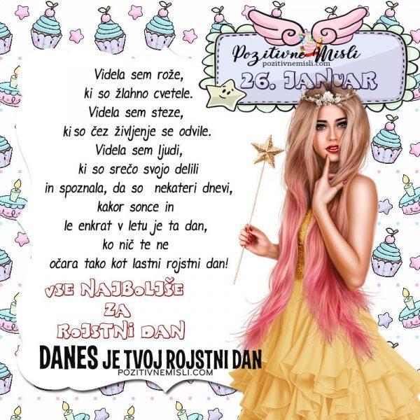 26. januar ~ voščilo za rojstni dan ~ Pozitivčica