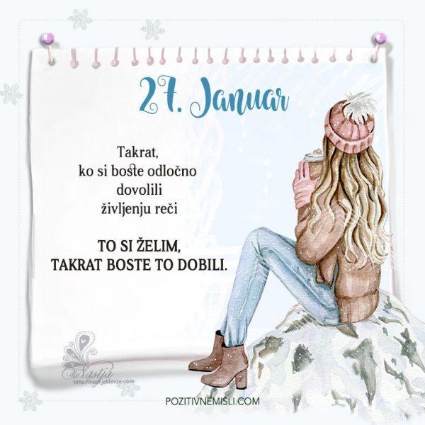 27. januar ~ Pozitivčica za današnji dan ~ Nastja Klevže