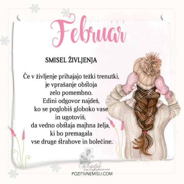 Februar ~ Pozitivčica za današnji dan ~ Nastja Klevže