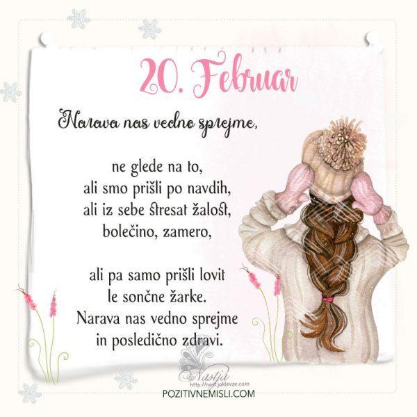 20. Februar ~ Pozitivčica za današnji dan ~ Nastja Klevže