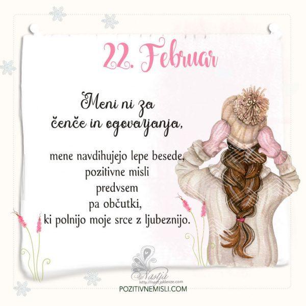 22. Februar ~ Pozitivčica za današnji dan ~