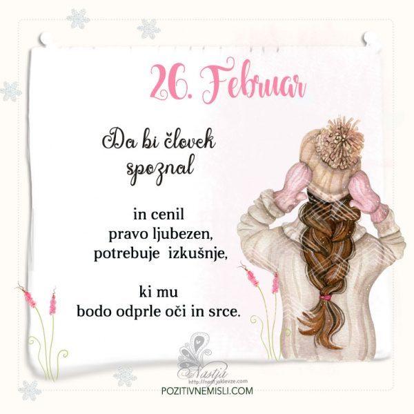 26. Februar ~ Pozitivčica za današnji dan ~ Nastja Klevže