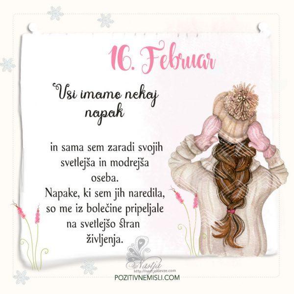 16. Februar ~ Pozitivčica za današnji dan ~ Nastja Klevže