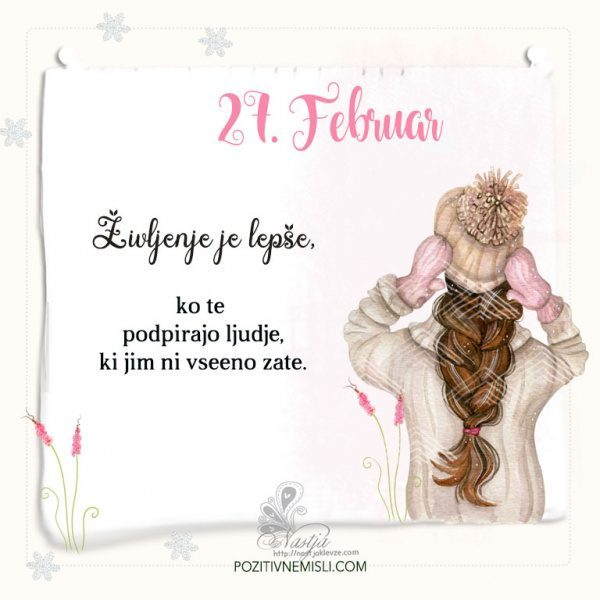 27. Februar ~ Pozitivčica za današnji dan