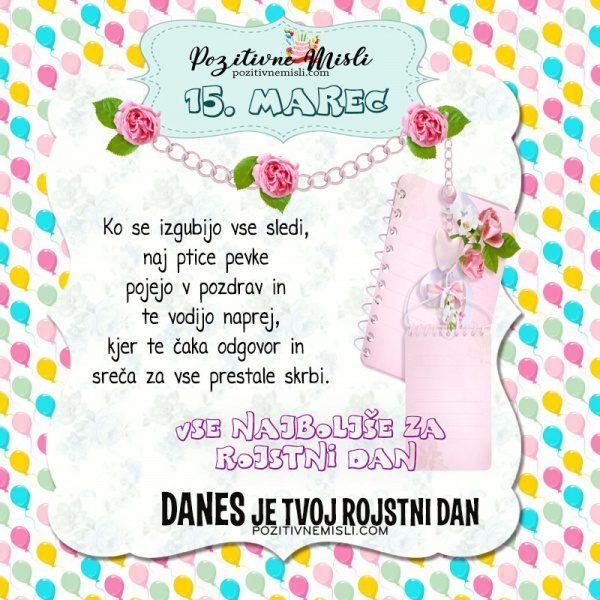 15. marec ~ voščilo za rojstni dan ~ Pozitivčica