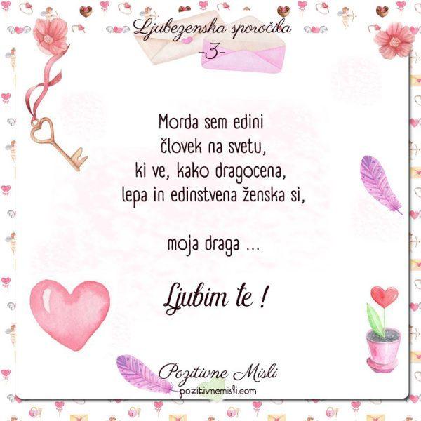 3 - ljubezenska sporočila 💜Morda sem edini  človek
