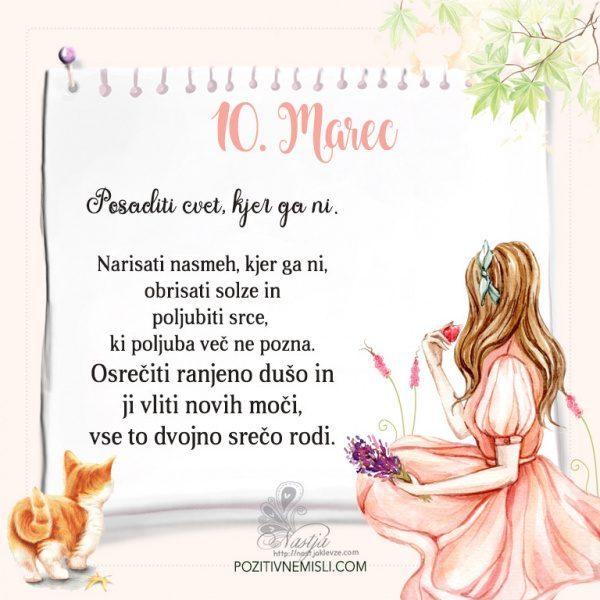10. Marec  ~ Pozitivčica za današnji dan ~ Nastja Klevže