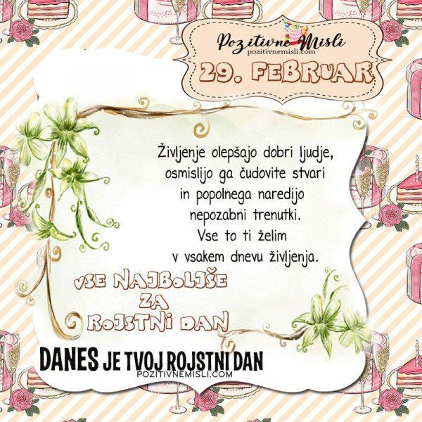 29. februar ~ voščilo za rojstni dan ~ Pozitivčica