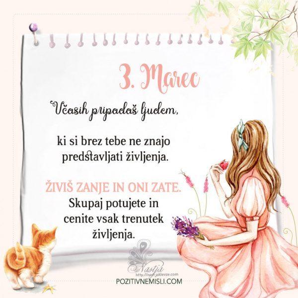 3. Marec  ~ Pozitivčica za današnji dan ~ Nastja Klevže