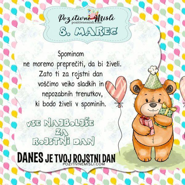 8. marec ~ voščilo za rojstni dan ~ Pozitivčica