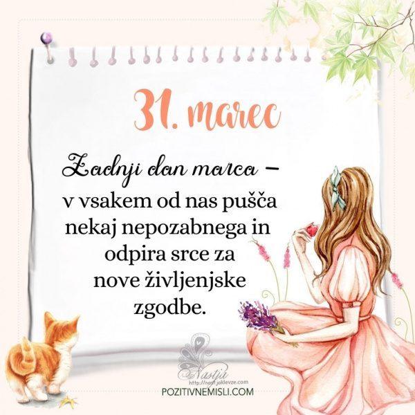 31. Marec  ~ Pozitivčica za današnji dan ~ Nastja Klevže