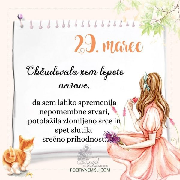 29. Marec  ~ Pozitivčica za današnji dan ~ Nastja Klevže