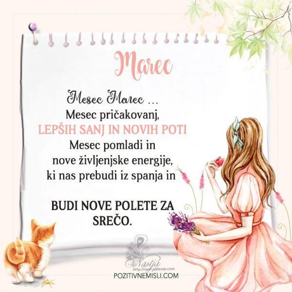 Marec  ~ Pozitivčica za današnji dan ~ Nastja Klevže-Recovered