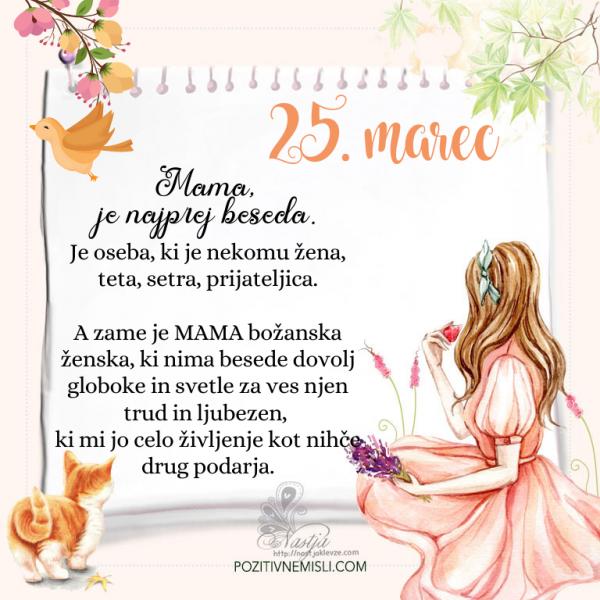 25. Marec  ~ Pozitivčica za današnji dan ~ Nastja Klevže