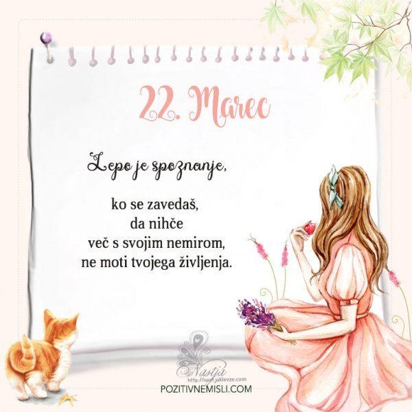 22. Marec  ~ Pozitivčica za današnji dan ~ Nastja Klevže